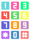 Colorful Telephone Number Royalty Free Stock Image - 69528216