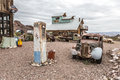 Old Wooden House And Rusty Old Fuel Pump In Nelson Nevada Ghost Royalty Free Stock Photography - 69546127