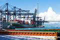 Sea Port And Cranes In China Stock Image - 69552551