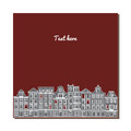 Universal Card With Old European Style Buildings. Amsterdam Houses. Stock Photography - 69560442