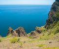 Tranquil Coastal Landscape On Karadag Volcanic Mountain Range Stock Image - 69575051