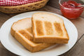 Toasts On Plate And Strawberry Jam Royalty Free Stock Photography - 69578337