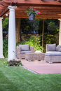 Covered Patio With Columns Royalty Free Stock Photos - 69578448