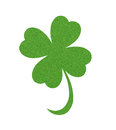 Textile Leaf Of Clover Isolated On White Royalty Free Stock Photos - 69583608