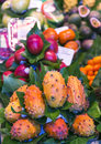 La Boqueria Market With Tropical Fruits Stock Photos - 69606973