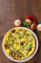 Omelet With Mushrooms In A Plate Stock Photography - 69610072