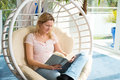 Blond Woman Reading A Book Stock Photos - 69610133
