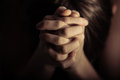 Hands Folded Together In Prayer Royalty Free Stock Image - 69621016