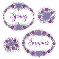 Flowers Set. Floral Frames. Greeting Cards Decoration Stock Photo - 69631710