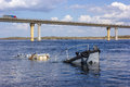 Boat Wreck In A River Stock Images - 69638154