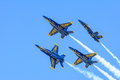 Blue Angels Aerobatic Jets Performance At 2015 Fort Worth Alliance Airshow Royalty Free Stock Photography - 69640707