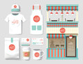 Vector Restaurant Cafe Set, Shop Front Design, Flyer, Package, T Royalty Free Stock Photos - 69647968