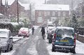 Heavy Snowfall On A City Street In The Winter Time Of The Year Stock Image - 69649661