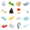 Waste And Garbage Icons Set, Isometric 3d Style Stock Images - 69652094