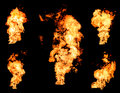 Blazing Fire Raging Flame Of Burning Gas Or Oil Collection Royalty Free Stock Photo - 69655175