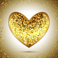 Gold Heart Royalty Free Stock Photo - 69680395