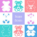 Cute Teddy Bears Icons Royalty Free Stock Image - 69680616