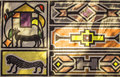 African Tribal Traditional House Ornament, Pattern. Royalty Free Stock Photography - 69693727