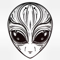 Alien Face Icon Vector Illustration. Royalty Free Stock Photo - 69704105