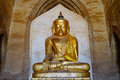 Golden Buddha Statue At The Thatbyinnyu Temple In Bagan, Myanmar Royalty Free Stock Photo - 69712695