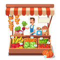 Local Market Farmer Selling Vegetables Royalty Free Stock Photo - 69723395