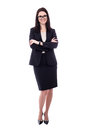 Full Length Portrait Of Young Woman In Business Suit Isolated On Stock Image - 69729761