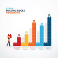 Infographic Template With  Building Blocks Graph. Concept Vector Stock Image - 69758511