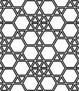 Vector Modern Seamless Geometry Pattern Hexagon, Black And White Abstract Royalty Free Stock Photography - 69762757