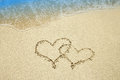 Heart On The Sand By The Sea Stock Photo - 69769480