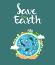 Earth Day Concept. Human Hands Holding Floating Globe In Space. Save Our Planet. Flat Style Vector  Illustration Royalty Free Stock Photos - 69776158