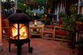 Backyard Patio And Fireplace Stock Photography - 6986542