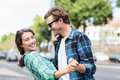Young Couple Dancing Royalty Free Stock Photos - 69800388