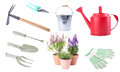 Garden Tools Collection Set Isolated Stock Photography - 69812692
