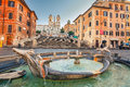 Spanish Steps In Rome Stock Images - 69813424