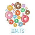 Bright Vector Banners With Donuts Illustration Isolated On The White Background. Doughnut Banner In Cartoon Style Stock Photos - 69814753
