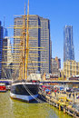 Ship In Harbor Of South Street Seaport Royalty Free Stock Photography - 69822927
