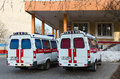 Ambulances Are At The Substation Number 5, Gomel, Belarus Royalty Free Stock Images - 69831079