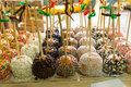 Tray Of Decorated Toffee Apples Royalty Free Stock Images - 69835349
