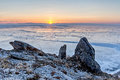 Sunrise Over Lake Baikal Ice Field Royalty Free Stock Photography - 69836367