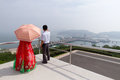 West Sea Barrage (Nampo Dam), North Koreans & Hanbok Royalty Free Stock Images - 69841859