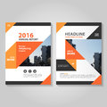 Abstract Orange Black Annual Report Leaflet Brochure Flyer Template Design, Book Cover Layout Design Stock Photo - 69844780
