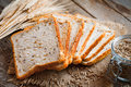 Wheat Toast Bread, Spikes And Wheat Grains Stock Images - 69854704