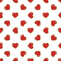 Seamless Pattern With Red Hearts Royalty Free Stock Photography - 69856667