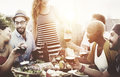 Diverse People Friends Hanging Out Drinking Concept Royalty Free Stock Images - 69865259