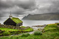 Small Village Church Under Heavy Clouds Stock Photography - 69882922