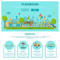 Outdoor Playground Illustration Royalty Free Stock Photography - 69884347