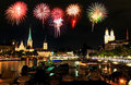 The Zurich City Skyline At Night Royalty Free Stock Photography - 6991117