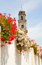 Flowers On The White Streets Of Andalucia Royalty Free Stock Photos - 6997518