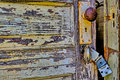 Old, Rustic, Partially Open Door With Broken Latch Royalty Free Stock Photography - 69921957