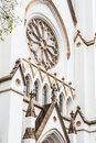 Arches And Windows On White Church Royalty Free Stock Image - 69929056